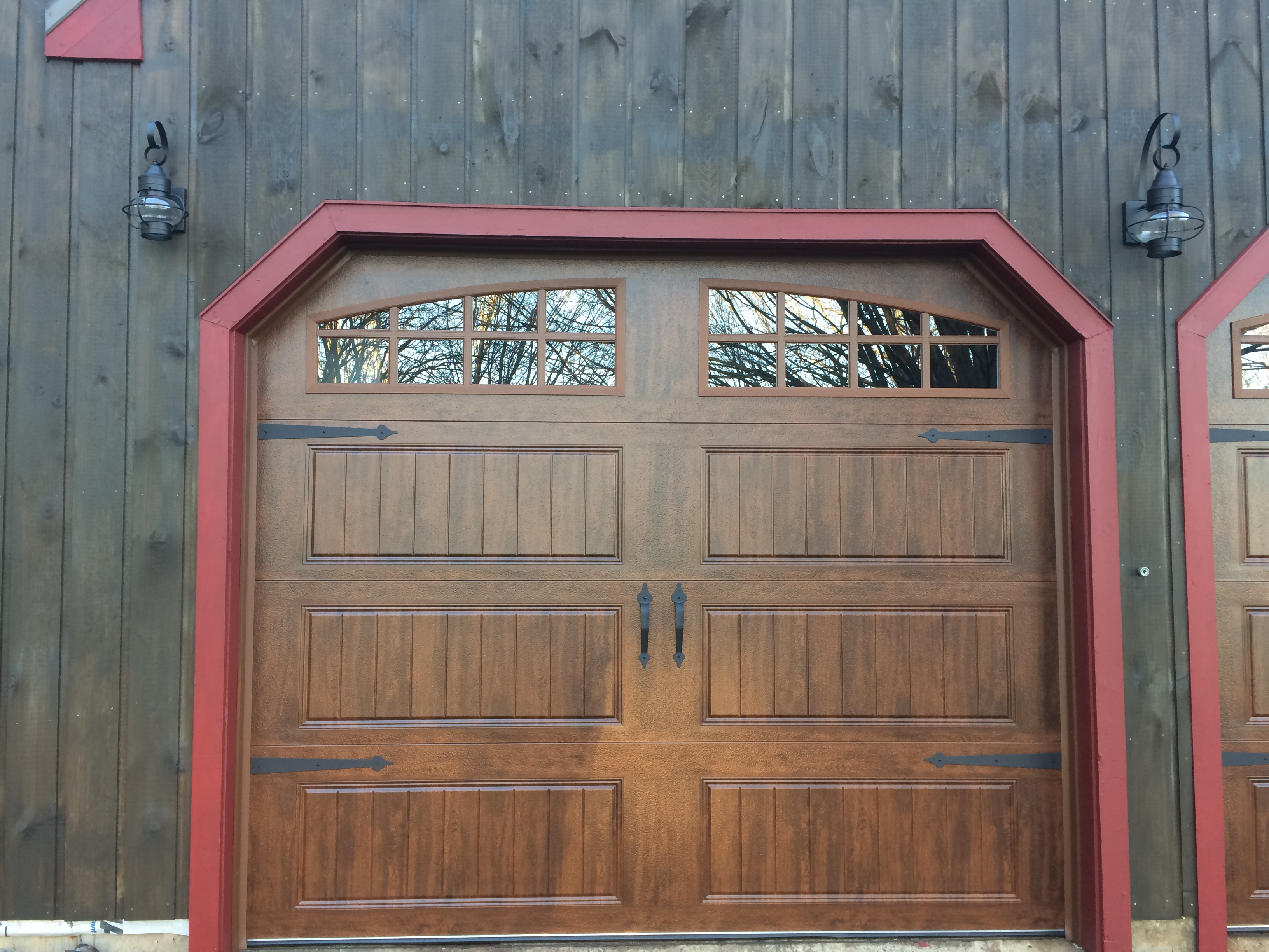 Classica northampton garage door white 9 x 8 no windows - 8x7 Classica Northampton Panel With Madeira Glass Installed In Madison We Also Installed Liftmaster 8550w With Battery Backup Outside Keypad And
